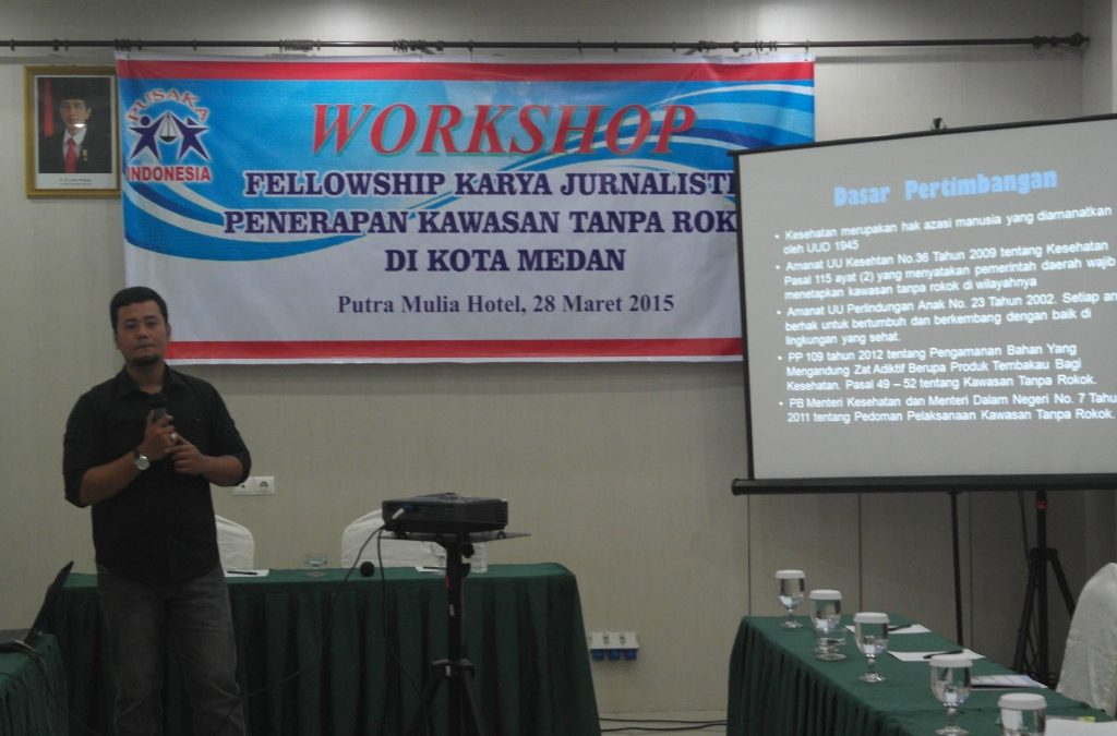 YPI Held Fellowship of Journalists Work of Smoke Free Area Implementation