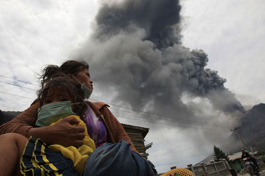 Simulation of Sinabung Eruption to 5 Villages