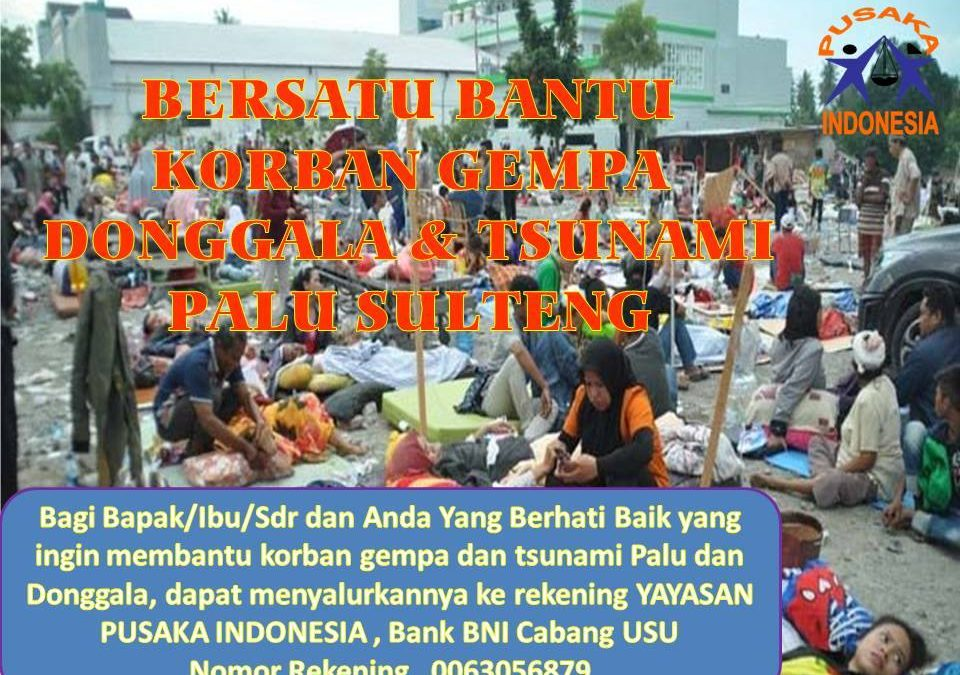 Please Support Our Mission for Central Sulawesi Tsunami Survivors